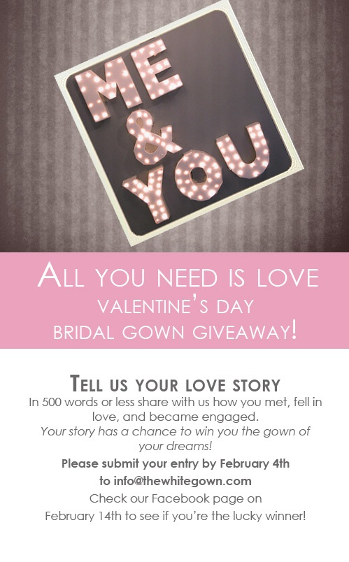 The White Gown Valentine's Day Bridal Gown Giveaway!