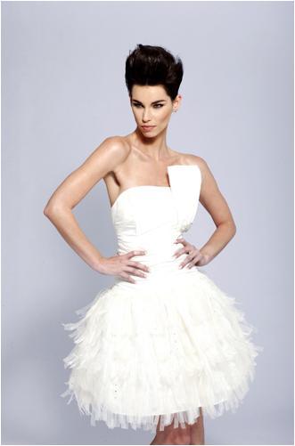 White Short Wedding Dresses  : Short white prom dresses wedding
