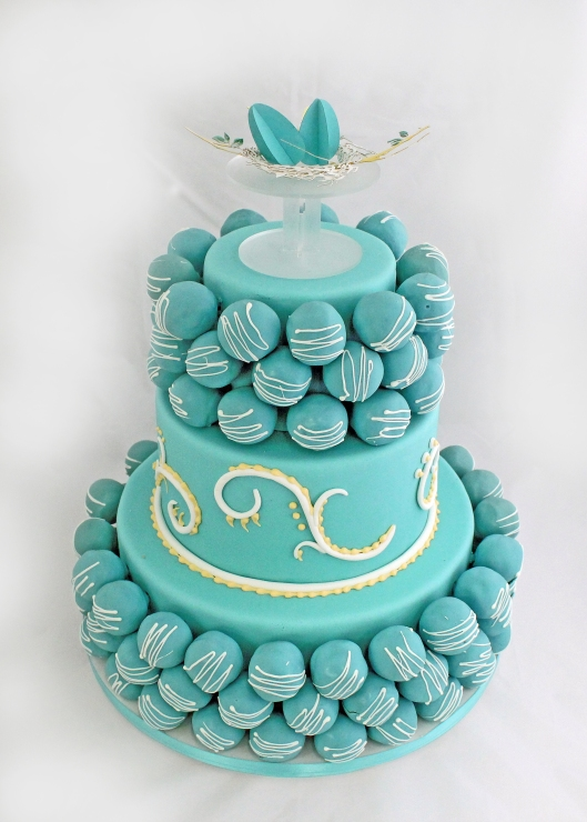 Nesting Eggs cake topper by Mirror Mirror Designs